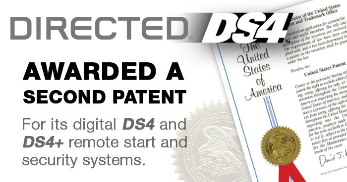 Directed Annouces Awarded Second Patent for Digital DS4 and DS4+ Remote Start/Security Systems